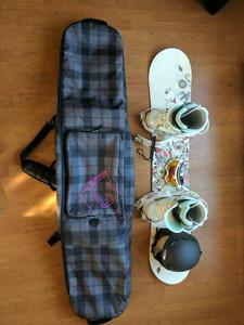 Women's snowboard bundle