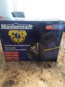 """Mastercraft 12"""" Tool Bag with Supply Pouch"""