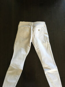 Women's White Guess Jeans