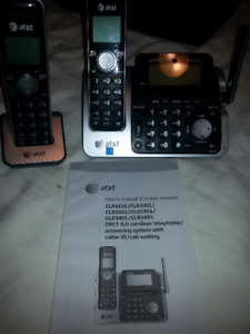 AT&T Phone, answering machine and extra handset
