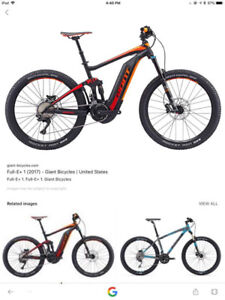 In search of a used Giant Full E bike or similar model.