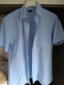 Mens linen Jaeger short sleeved shirt.