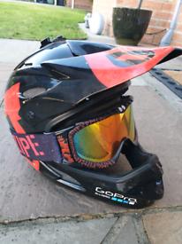 Mountain Bike Helmet and goggles