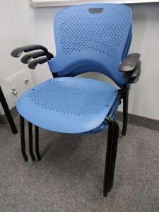 Herman Miller Light Blue Caper Side Chairs - x 4
