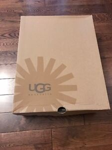 UGG boots black Leather-  size 9