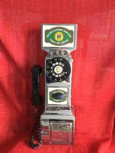 Téléphone chromé 1961  Brandon au Manitoba gare du CN