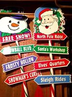 Christmas lawn signs