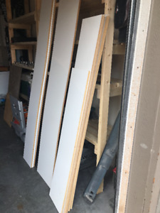 White Laminate Shelves