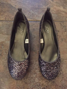Sparkly Wedge Shoes - youth size 3 or women size 5