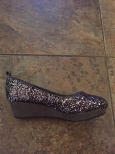 Sparkly Wedge Shoes - youth size 3 or women size 5 London Ontario image 2