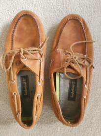 Timberland leather deck shoes - size 10