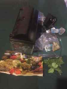 Fish tank with a ton  of accessories Cambridge Kitchener Area image 3