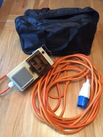 Camping electric hook up