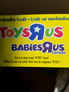 Toys r us gift card has 327.00 on it!!