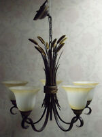 Alluring Wheat-Grass & Bulrush themed Chandeliers