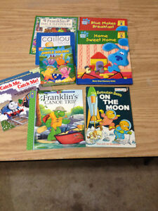 8 Treehouse books, Franklin, Calliou, Blue's Clues & More