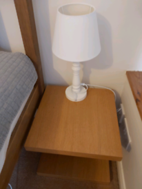 IKEA bed side table and lamp