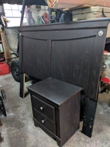 Headboard and night stand for sale