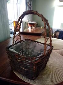 Woven wicker basket.