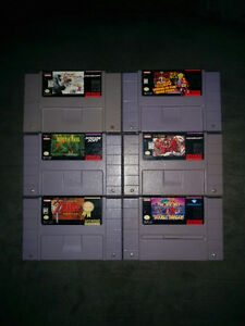 Assortment of SNES Super Nintendo games