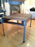 One of a kind coffee table out of pallet wood