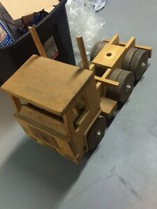 Wooden Tractor Trailer Hand Crafted