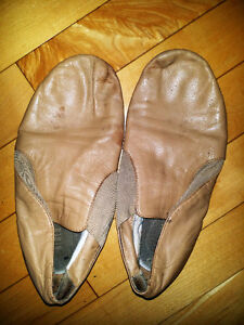 Beige Block jazz Shoes size 81/2