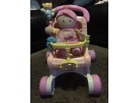 Fisher price my first pram and doll