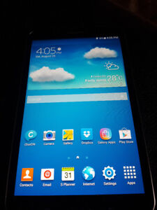 """Samsung Galaxy Tab 3, 16 GB, OEM charger and case, Android, 8"""""""