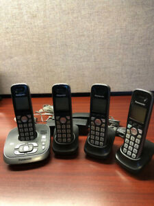 Panasonic cordless phone with answering machine & 4 sets