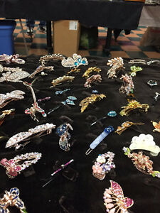 Hair clips, ear rings,necklaces and Pokemon toys