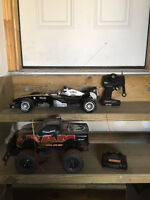 Two remote-controlled vehicles