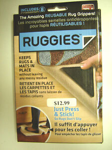 New Ruggies (Reusable corners to keep rugs/mats in place)
