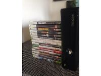 *XBOX 360S W/ GUITAR HERO* *BARELY USED 15 GAMES*