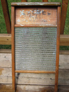 Herring-Bone Glass Washboard, circa 1950's
