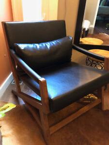 Pair of Teak Wood Armchairs