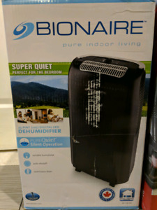 Bionaire dehumidifier 25 pint new in open box $125