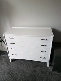 White Vintage Chest of Drawers (see description)