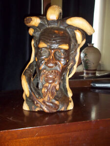 Sculpture from the roots ironwood,