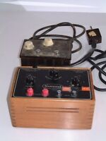 Two (2x) Vintage NATIONAL CAUTERY Electrosurgical Machines