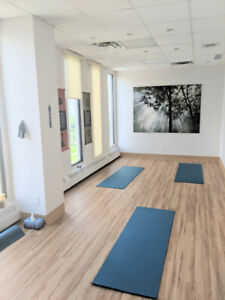 Yoga space for rent. Ideal for events and classes.
