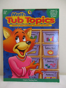K-2 Math Tub Topics Reproducible Unit Study and Workbook - New