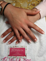 New set of Acrylic Extension nails with shellac $45 promotion
