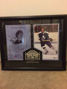 Darryl Sittler Hockey Hall Of Fame Toronto Maple Leafs Frame