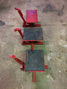 "3 Dirt Bike Stands/Lifts 9.5"", 9.75"", 10.5"""