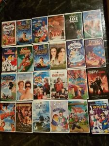 150+ VHS-Mostley Kids Moveis & Disney, Perfect for lake/Camp