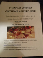 5th Annual Iroquois Christmas Artisan Show