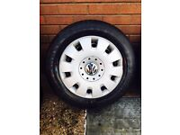 "4 VOLKSWAGEN TRANSPORTER 16"" t5 Rims,trims and COMMERCIAL TYRES"