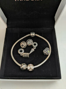 Pandora rings and bracelet and charms