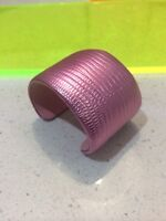 Pink Lizard large bracelet Cuff NEW